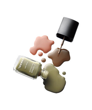 Chanel nail color in Khaki