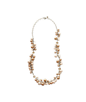 Long Cocoa Pearl Necklace by Loft