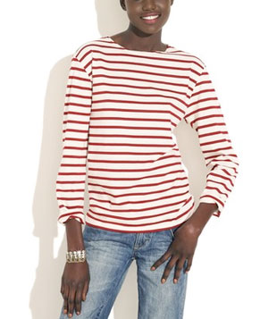 Long-Sleeved Striped Tee
