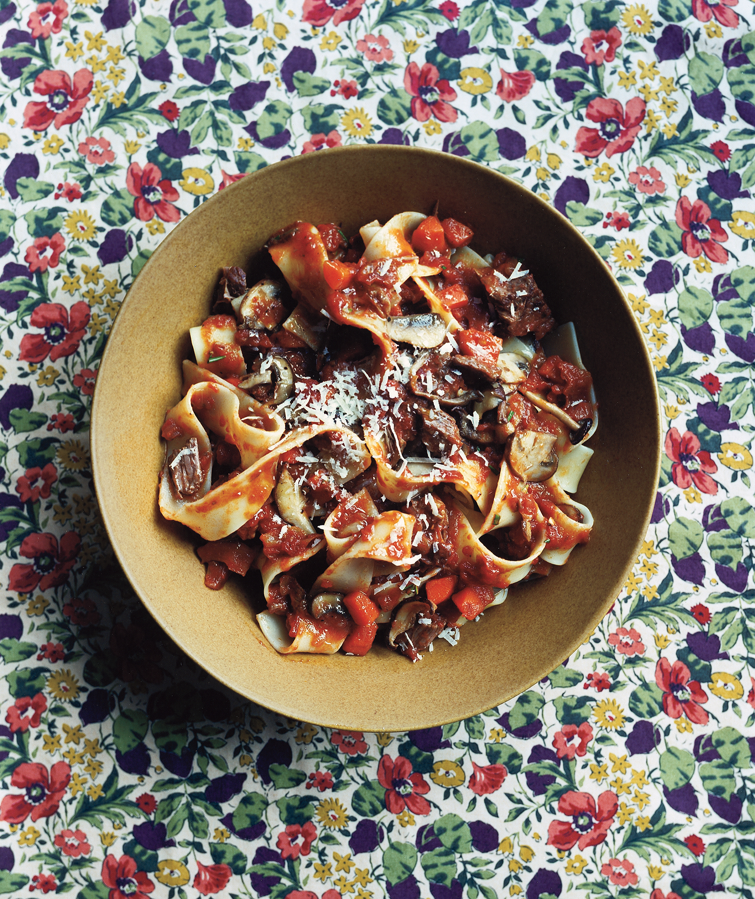 Pappardelle with beef and mushroom ragu