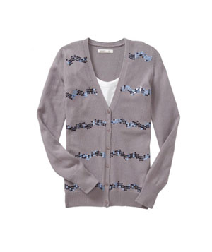 Sequin-Stripe Cardigan by Old Navy