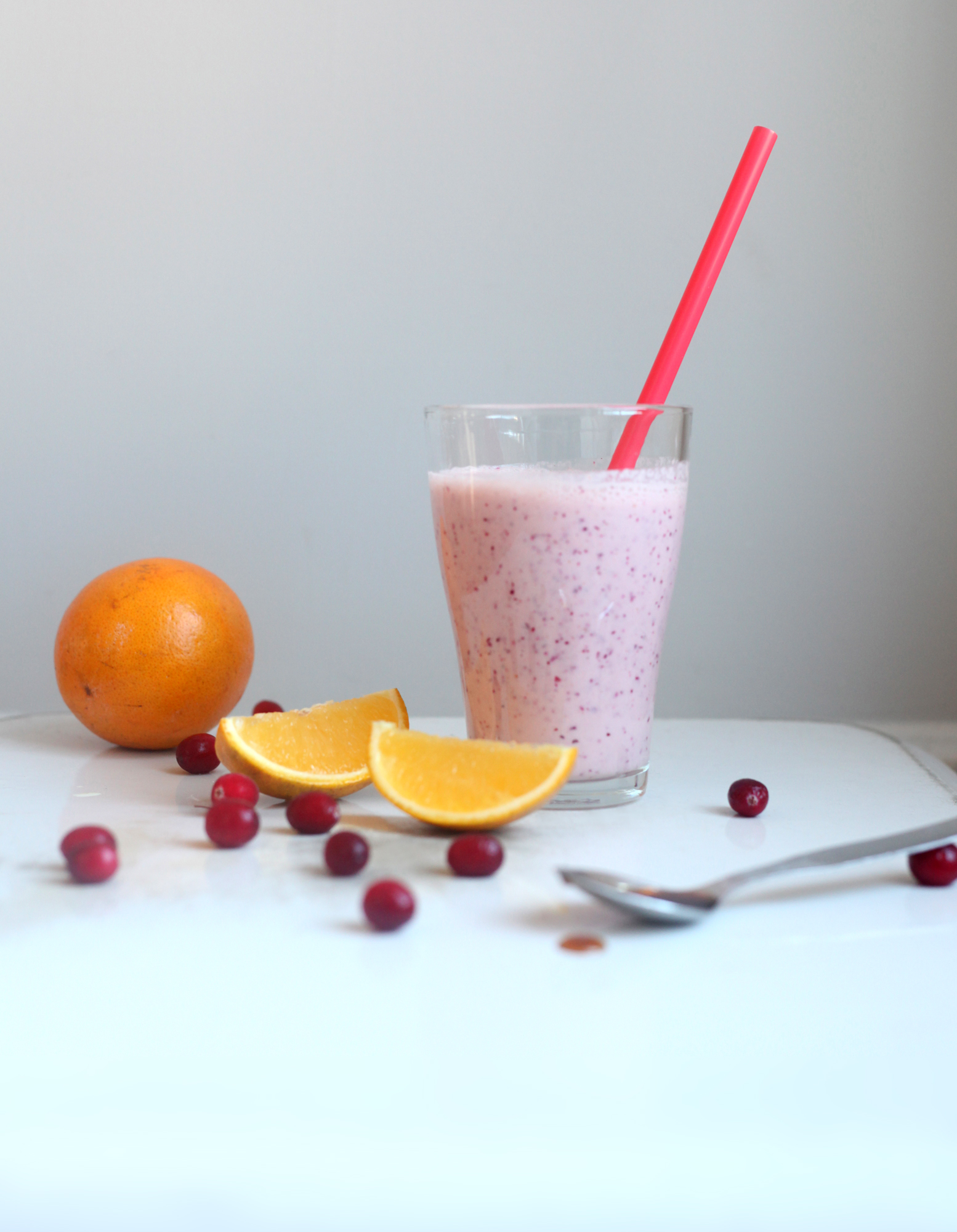 Fresh Cranberry and Orange Smoothie