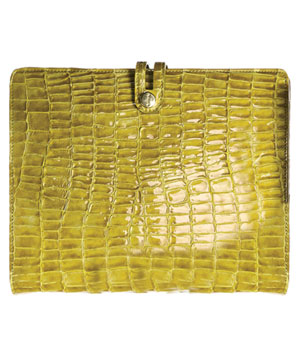 Crocodile-Embossed Italian Leather Case