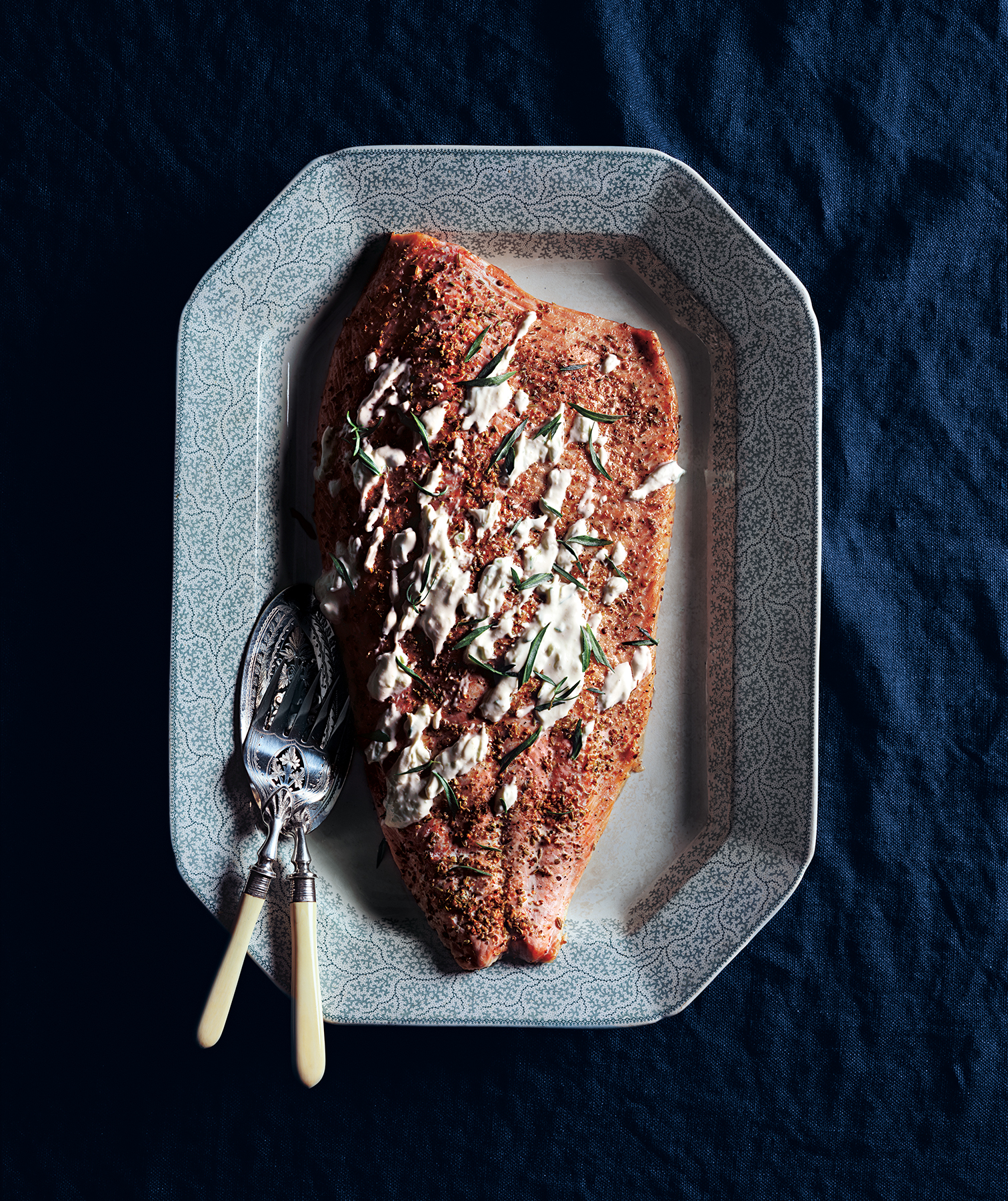 Roasted Salmon With Creamy Horseradish