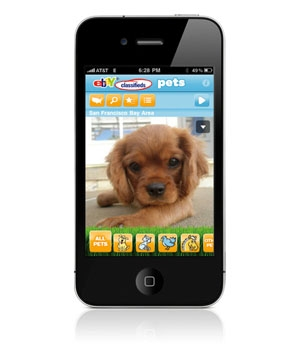 eBay Classifieds Pets app