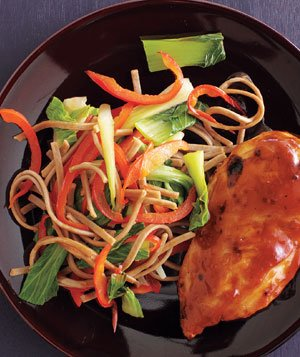 Sweet and Spicy Chicken With Soba Salad