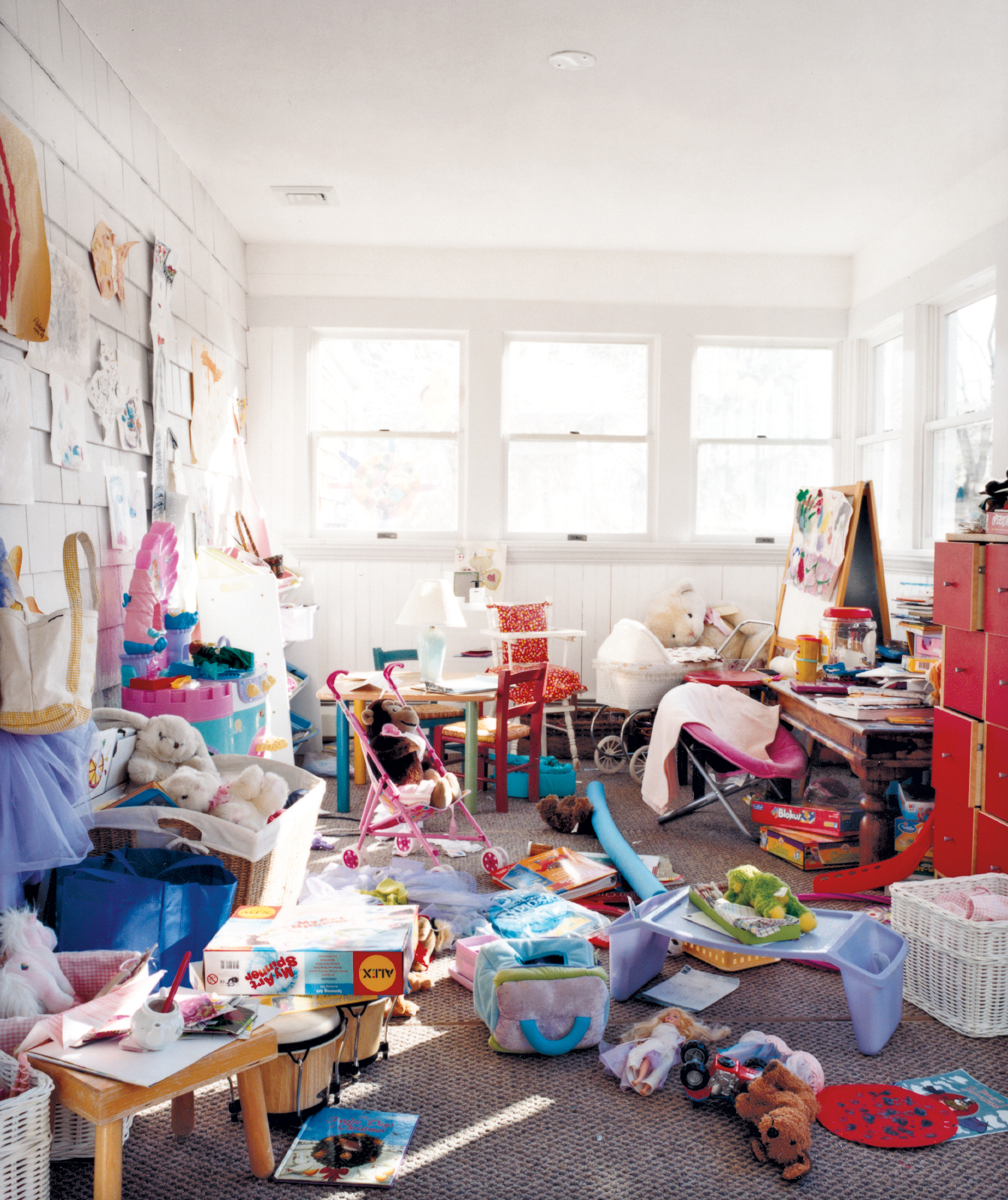 The Boothe's messy playroom