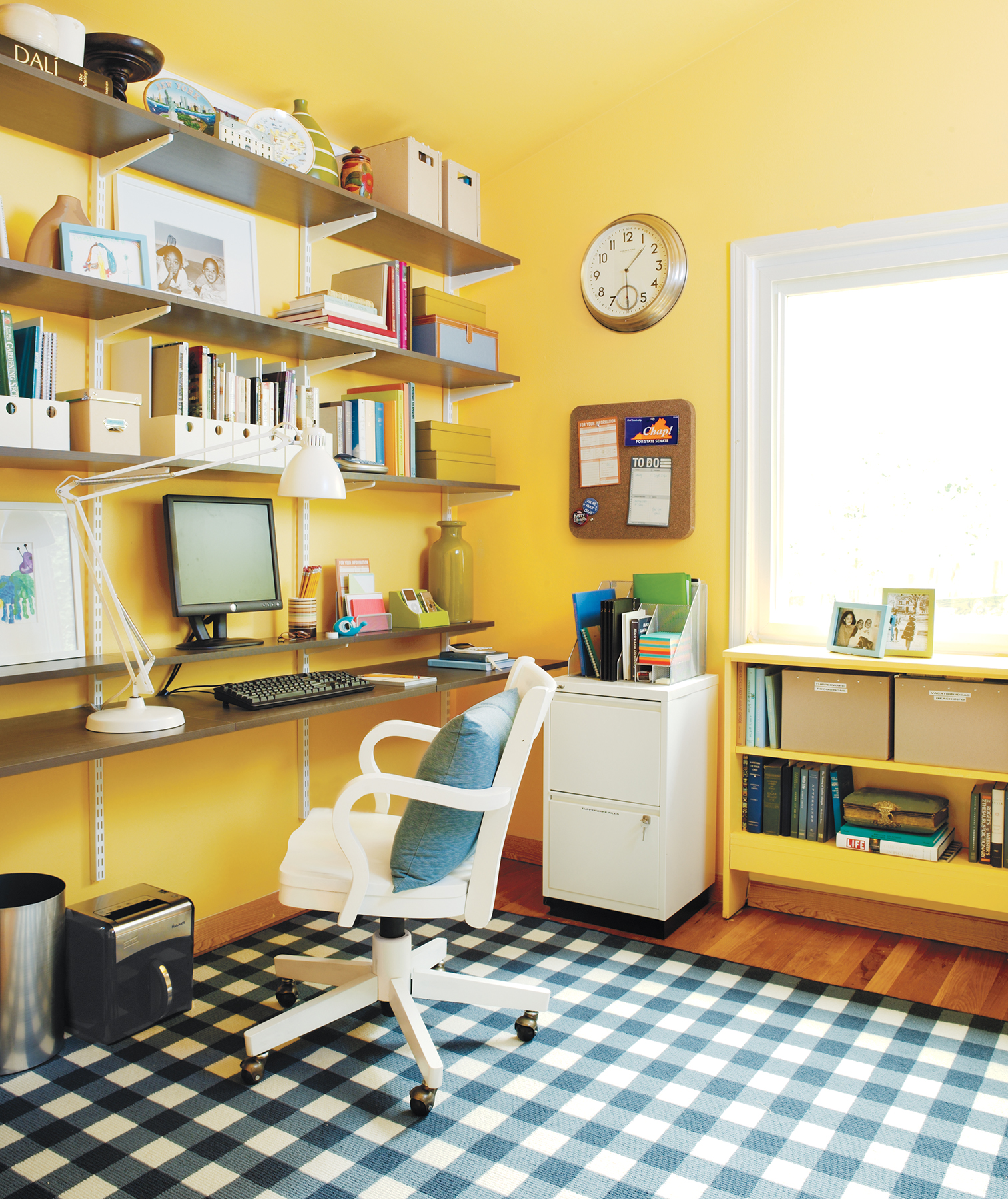 Charmant When You Canu0027t Devote An Entire Room To A Home Office, Save Space By Saying  Good Bye To Clunky Desks. Opt For Sturdy Shelves To House Your Computer And  ...