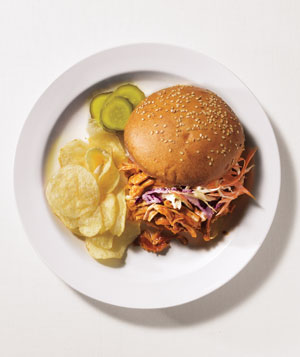 Barbeque pork sandwiches