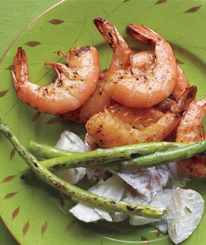 Grilled Shrimp With Lemony Potato Salad