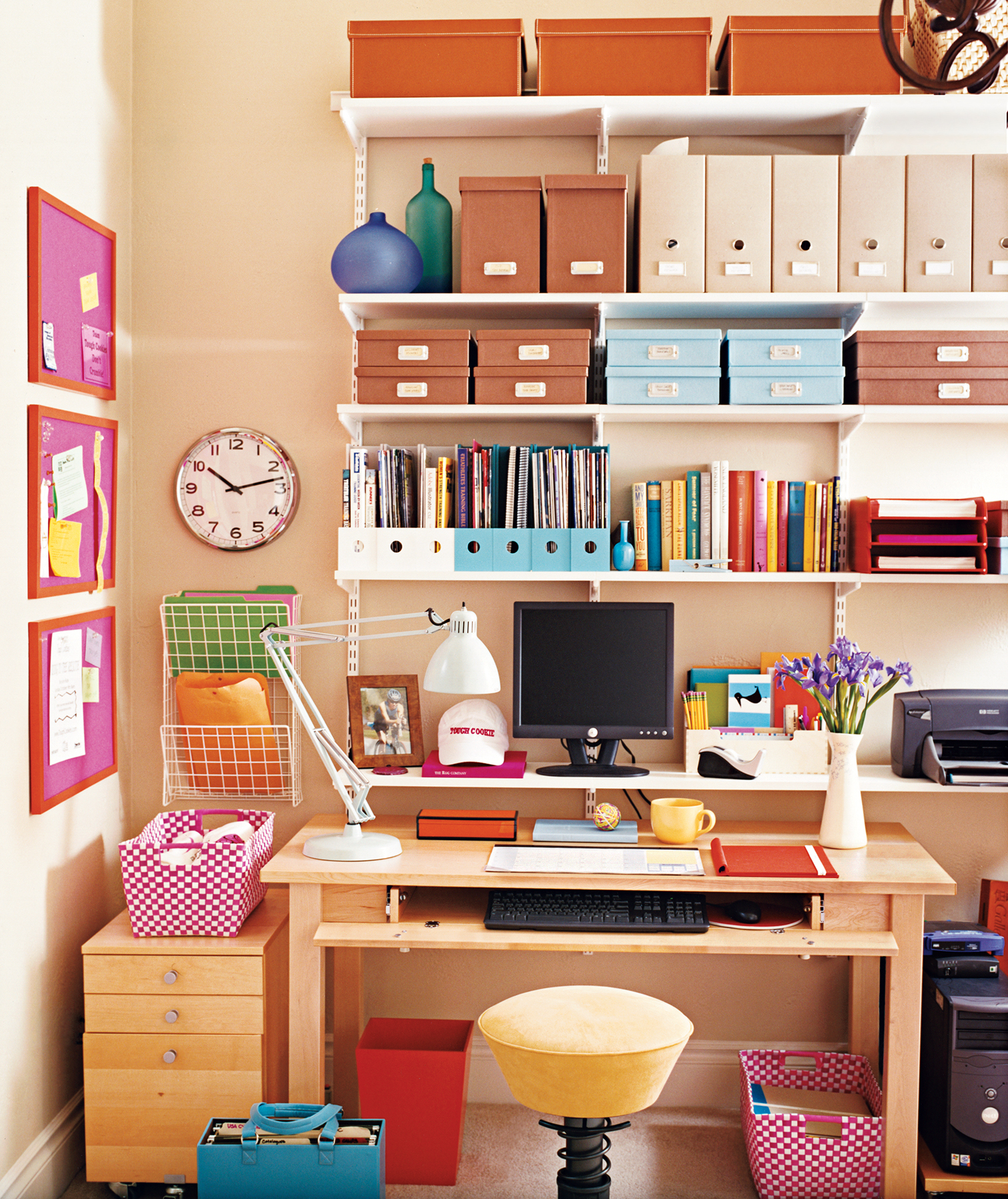your office cant spread out then go up make smart use of vertical wall space - How To Make Your Room Organized