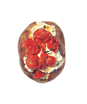 Ricotta and roasted tomato potato