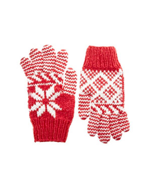 Chunky Fair Isle Gloves by Asos