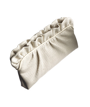 Cotton clutch with ruffles