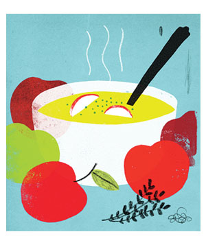 Healthy cooking illo