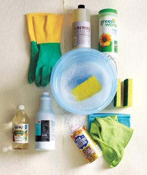 Cleaning cabinet supplies