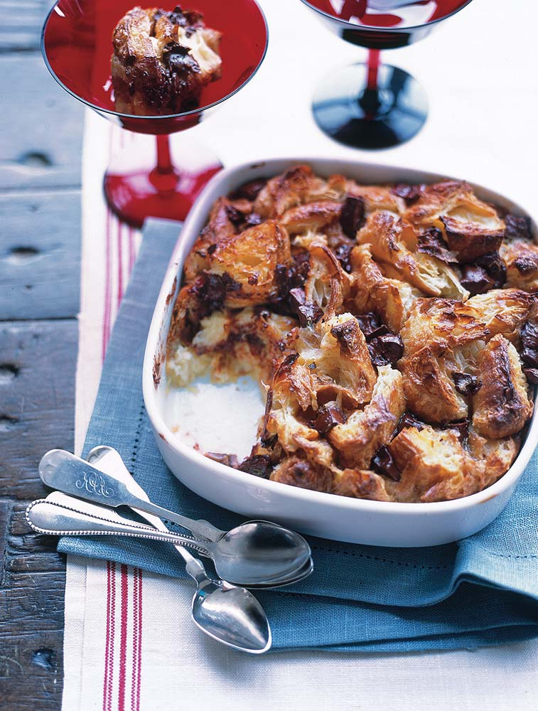 Croissant and Chocolate Bread Pudding