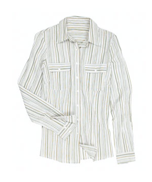 Cheesecloth Stripe Shirt by Long Tall Sally