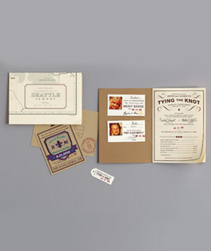 Guide to tying the knot wedding invite
