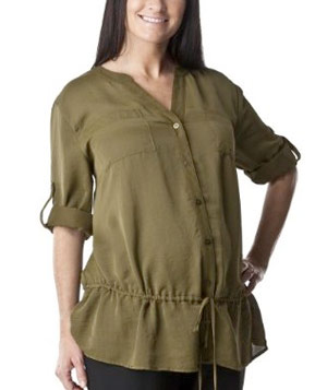 Maternity Rolled-Sleeve Shirt by Liz Lange for Target