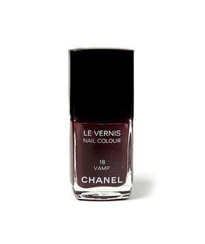 Chanel nail color in Vamp