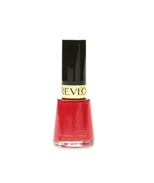 Revlon nail enamel in Revlon red