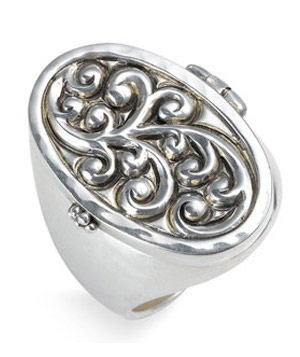 Keepsake Repousse Locket Ring by Lois Hill