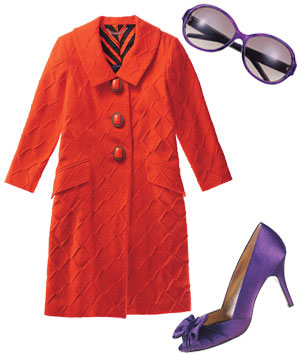 Composed Image with jacket, sunglasses and heels