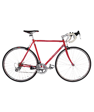 Red ten-speed bike