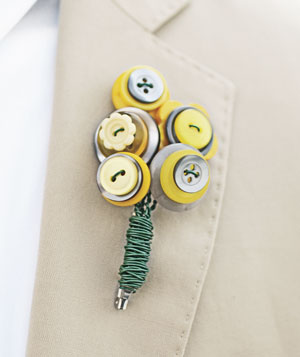 Groom's button boutonniere