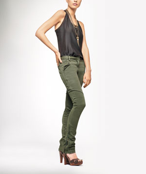 Model Wearing Max Azria Pants