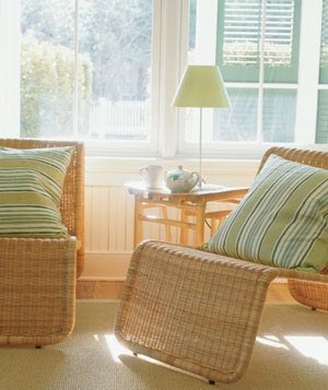 Lighten Up With Wicker  Inexpensive  20 Low Cost Decorating Ideas   Real Simple. Low Cost Living Room Design Ideas. Home Design Ideas