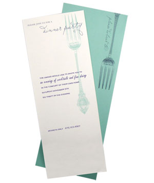 Dinner Party Imprintable Invitation