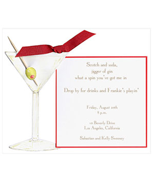 Martini Glass Cocktail Invitaion