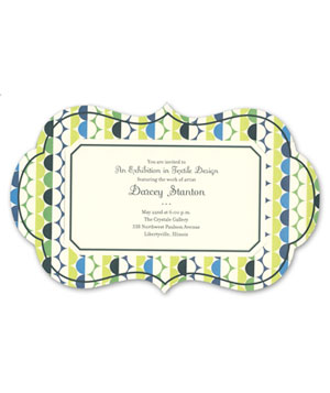 Geometric Circles Imprintable Modern Invitations