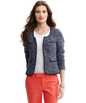 Banana Republic Textured Knit Lady Jacket