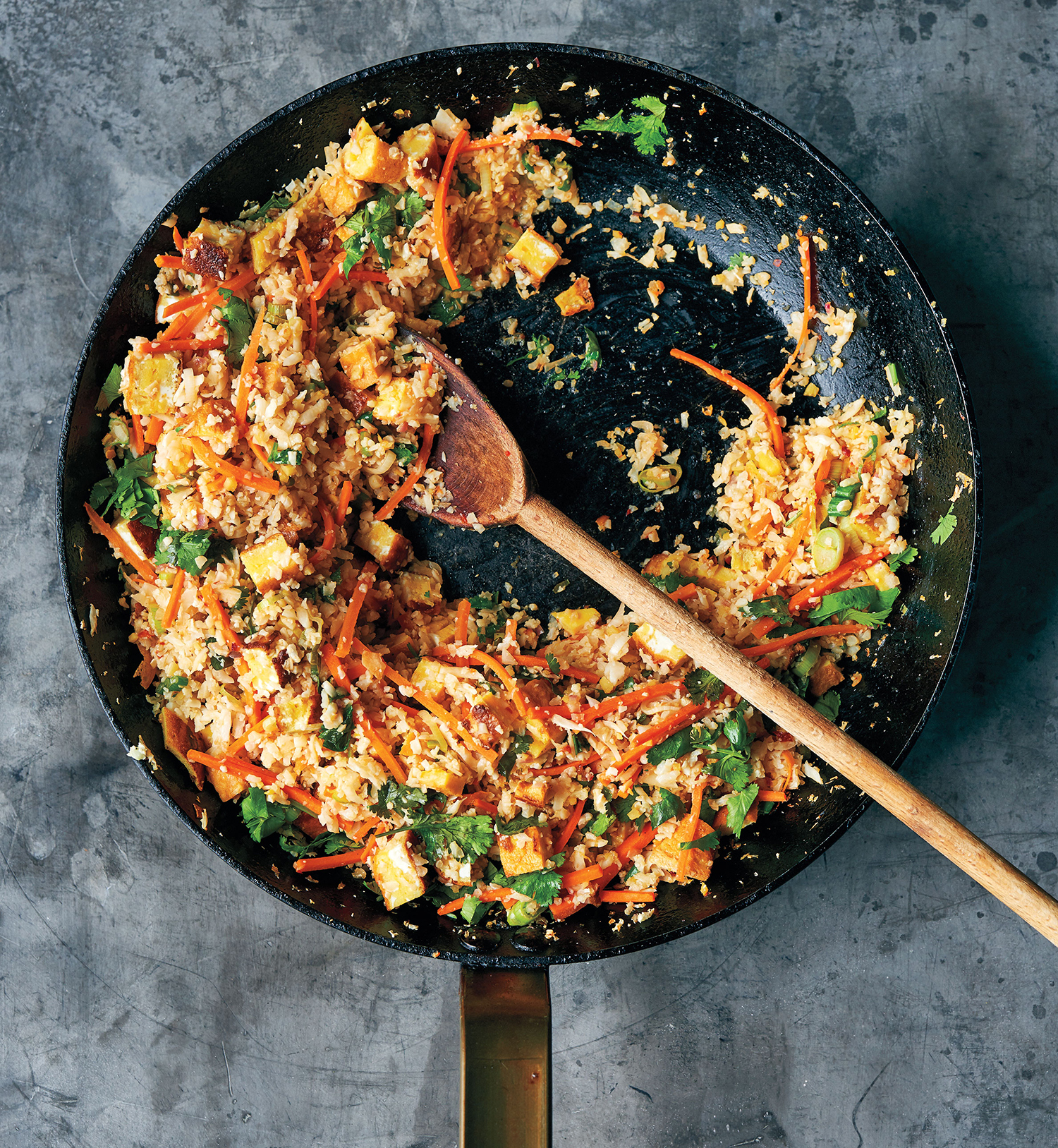 "Cauliflower Fried ""Rice"" with Ginger and Soy"