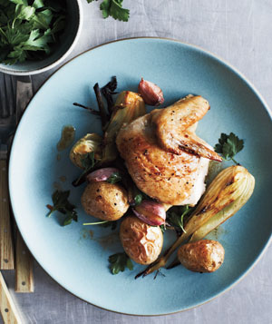 Roasted Chicken, Potatoes, and Fennel
