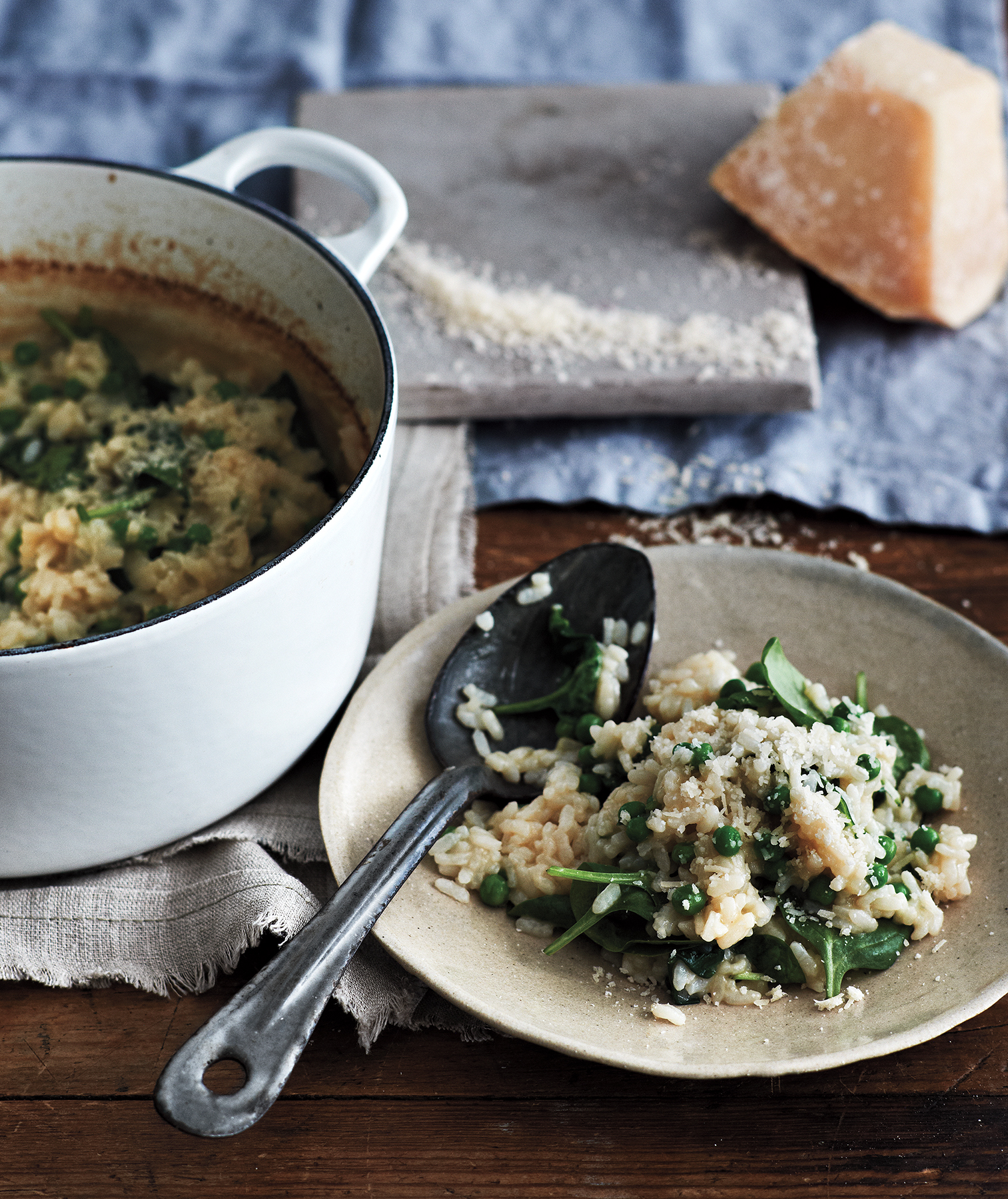 baked-spinach-and-pea-risotto