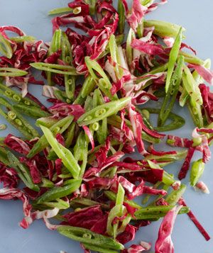 Snap Pea and Radicchio Slaw