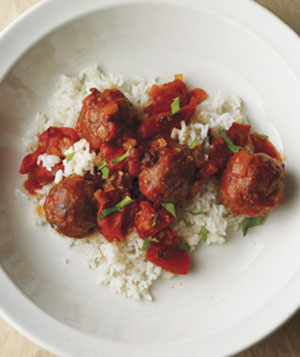 Spicy Chipotle Meatballs With Rice