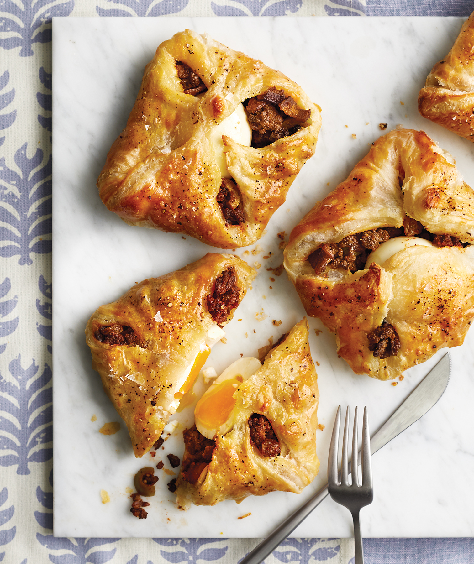 Bacon, Egg And Beef Hand Pies Recipe