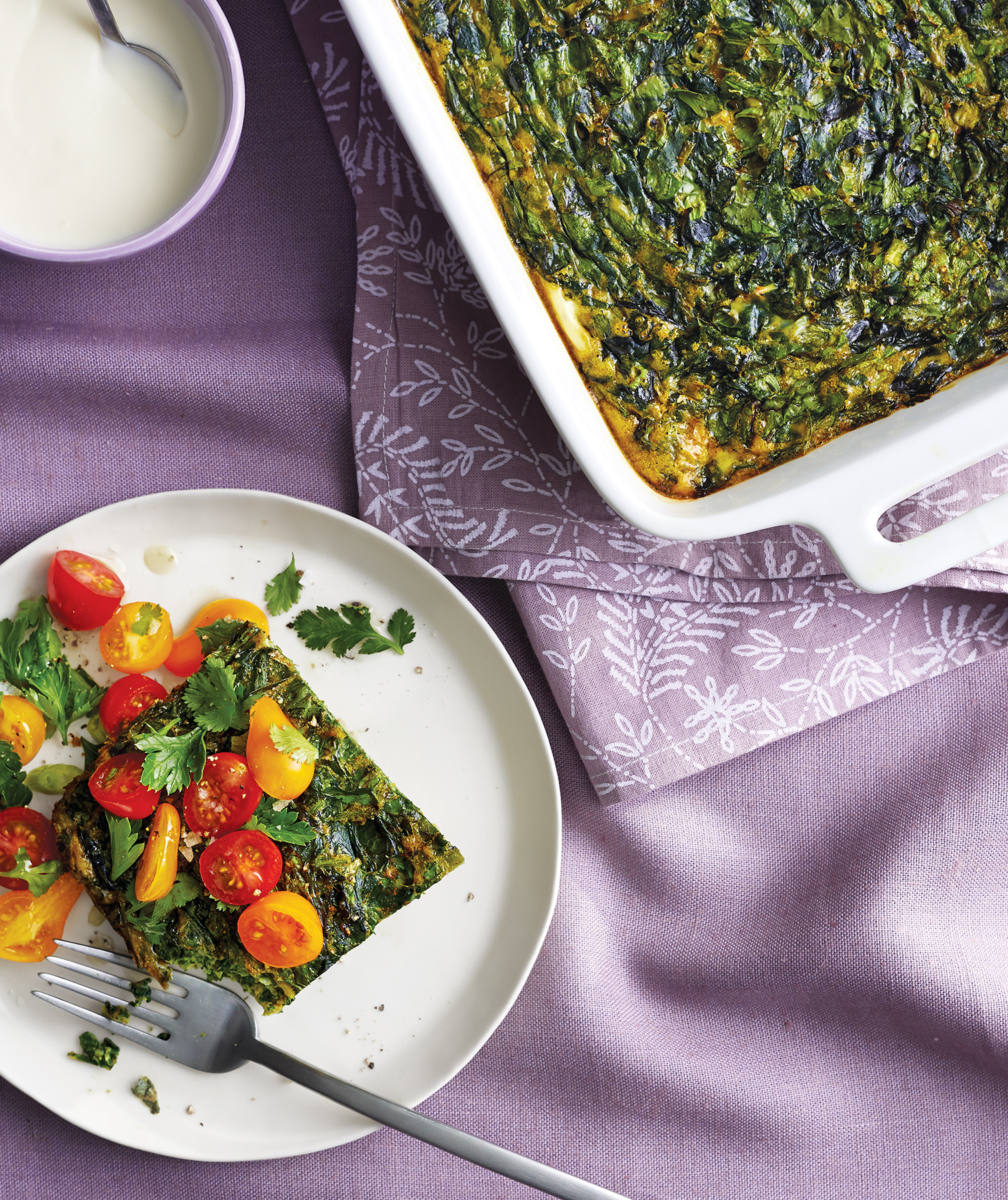 Chard & Herb Frittata With Cherry Tomatoes