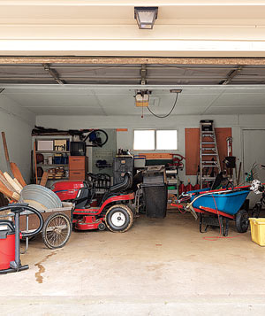 Messy Gardeners' garage