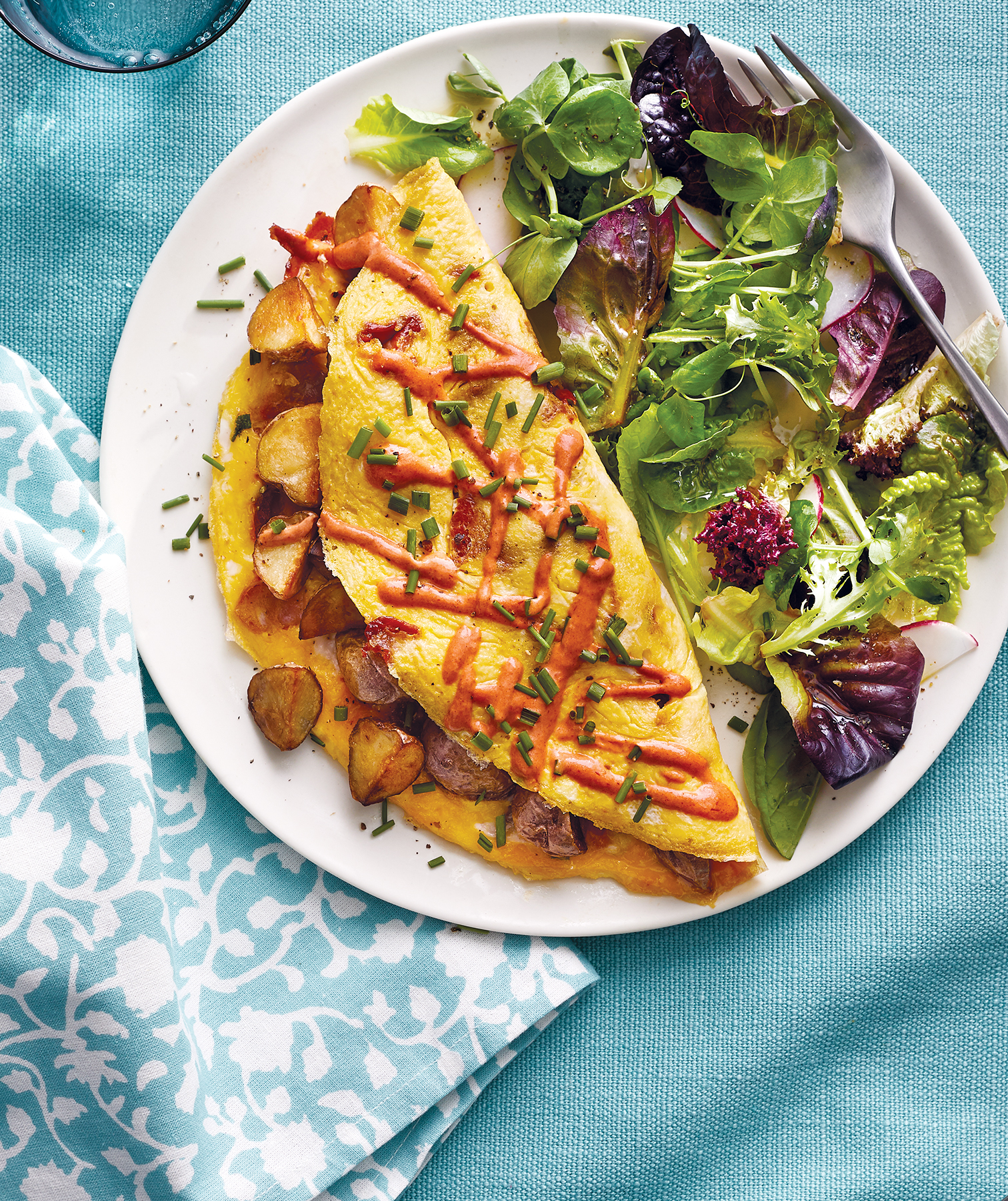 Crispy Potato Omelet With Smoky Aioli
