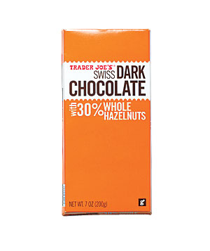 Trader Joe's Swiss Dark Chocolate With Whole Hazelnuts