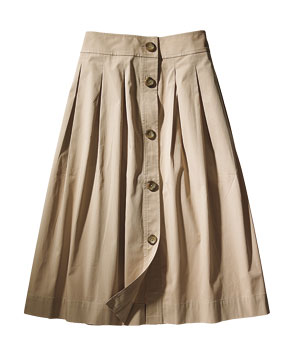 For Thick Calves: Lands' End Skirt