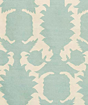 Flock Dove Cream rug by Layla Grace