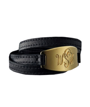 Monogram Wrap Bracelet by Lisa Stewart