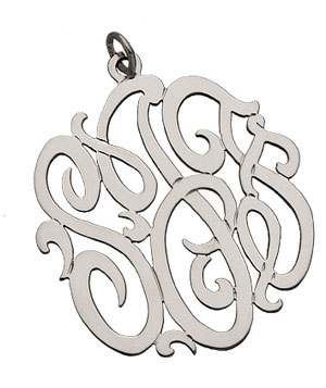 Jewelry Monogram Pendant by West Avenue